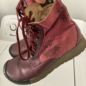 Dr. Martens catrina burgundy lace up combat boots
